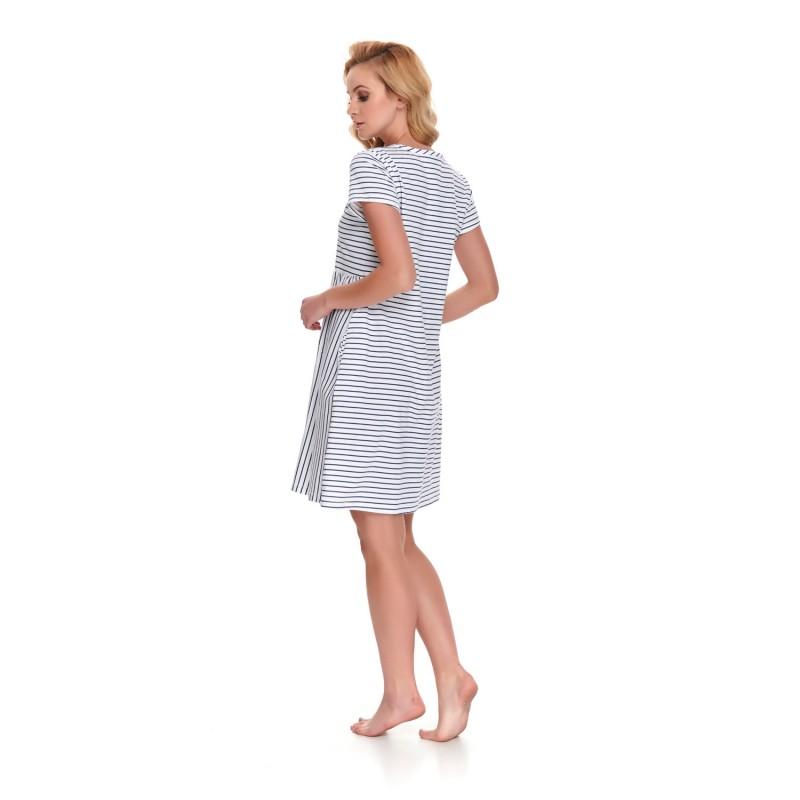 Koszula nocna dla kobiet w ciąży i karmiących w paseczki  AnsNu